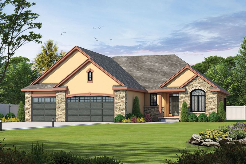 Traditional Exterior - Front Elevation Plan #20-2088