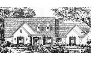 European Exterior - Front Elevation Plan #40-390