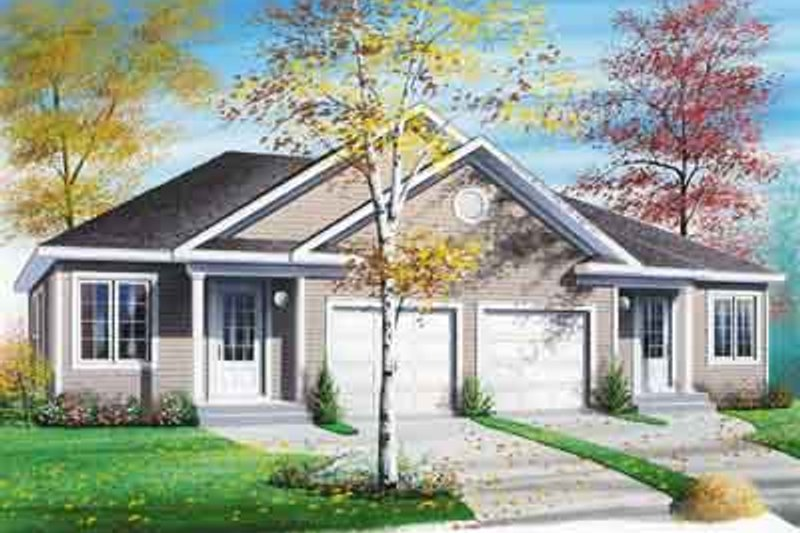 Architectural House Design - Traditional Exterior - Front Elevation Plan #23-518