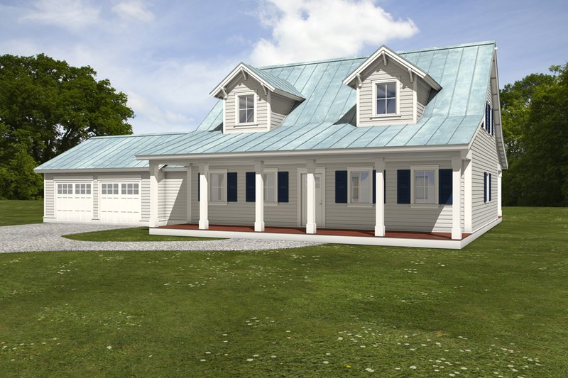 Farmhouse Style House Plan - 3 Beds 3.5 Baths 2584 Sq/Ft Plan #497-8 Exterior - Front Elevation