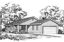 Home Plan - Traditional Exterior - Front Elevation Plan #72-226