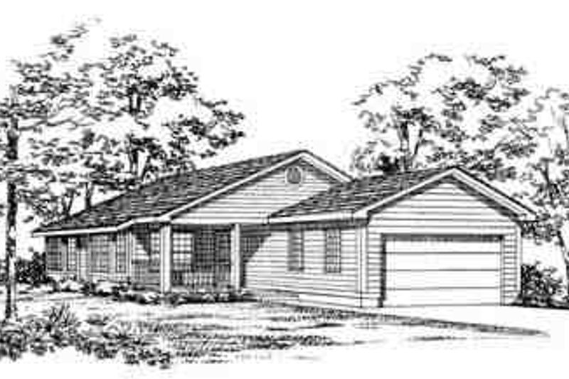 House Blueprint - Traditional Exterior - Front Elevation Plan #72-226