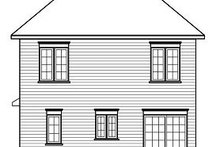 House Plan Design - Traditional Exterior - Rear Elevation Plan #23-733