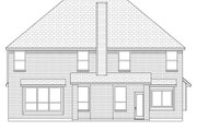Traditional Style House Plan - 5 Beds 2.5 Baths 2538 Sq/Ft Plan #84-631 Exterior - Rear Elevation