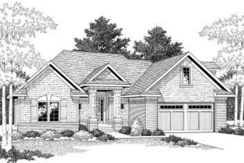 Traditional Exterior - Front Elevation Plan #70-800