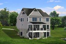 House Plan Design - Farmhouse Exterior - Rear Elevation Plan #1057-32