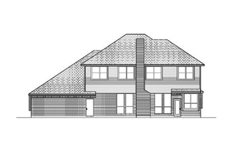 Country Exterior - Rear Elevation Plan #84-420 - Houseplans.com