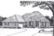 European Style House Plan - 3 Beds 3 Baths 2307 Sq/Ft Plan #310-826 Exterior - Front Elevation