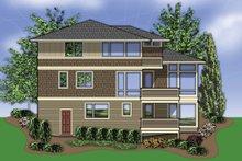 Dream House Plan - Rear view - 3700 square foot Prairie style home