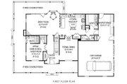 Farmhouse Style House Plan - 4 Beds 3.5 Baths 2457 Sq/Ft Plan #11-218 Floor Plan - Main Floor Plan