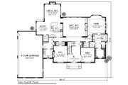 Traditional Style House Plan - 4 Beds 3.5 Baths 3945 Sq/Ft Plan #70-886 Floor Plan - Main Floor Plan