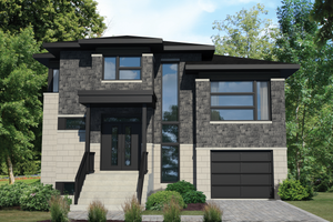 Contemporary Exterior - Front Elevation Plan #25-4433