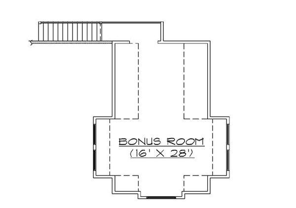 Bungalow Floor Plan - Upper Floor Plan Plan #5-380