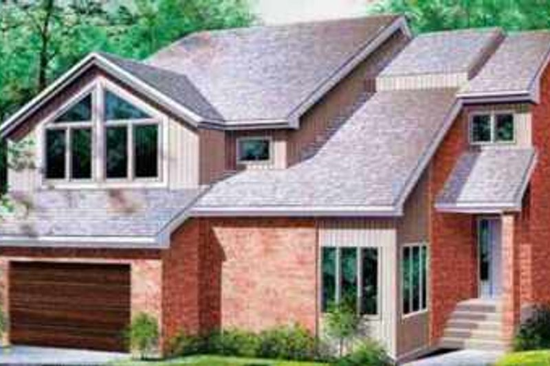 House Plan - 3 Beds 2.5 Baths 2390 Sq/Ft Plan #25-2229 Exterior - Front Elevation
