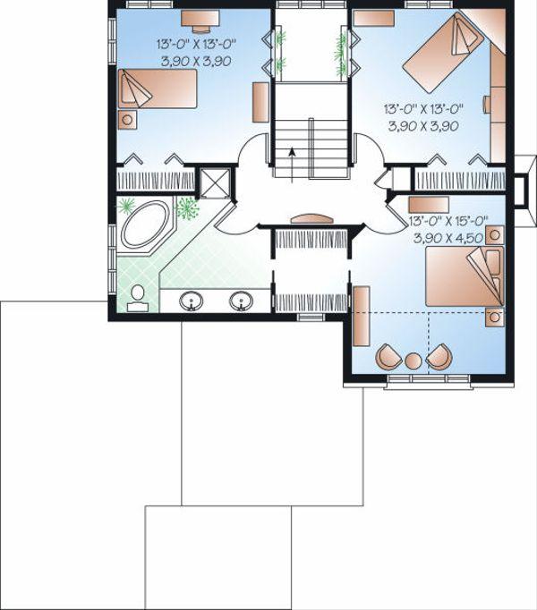 European Floor Plan - Upper Floor Plan Plan #23-746