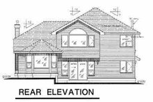 European Exterior - Rear Elevation Plan #18-266