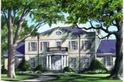 Southern Style House Plan - 5 Beds 4 Baths 4536 Sq/Ft Plan #137-159 Exterior - Front Elevation