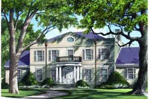 Southern Exterior - Front Elevation Plan #137-159