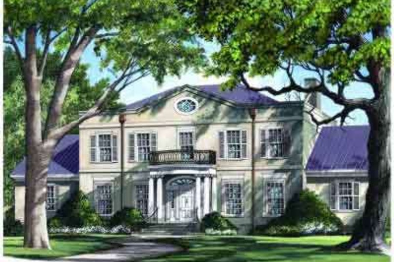 Southern Exterior - Front Elevation Plan #137-159 - Houseplans.com