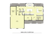 Farmhouse Style House Plan - 3 Beds 2.5 Baths 2580 Sq/Ft Plan #1068-3 Floor Plan - Main Floor Plan