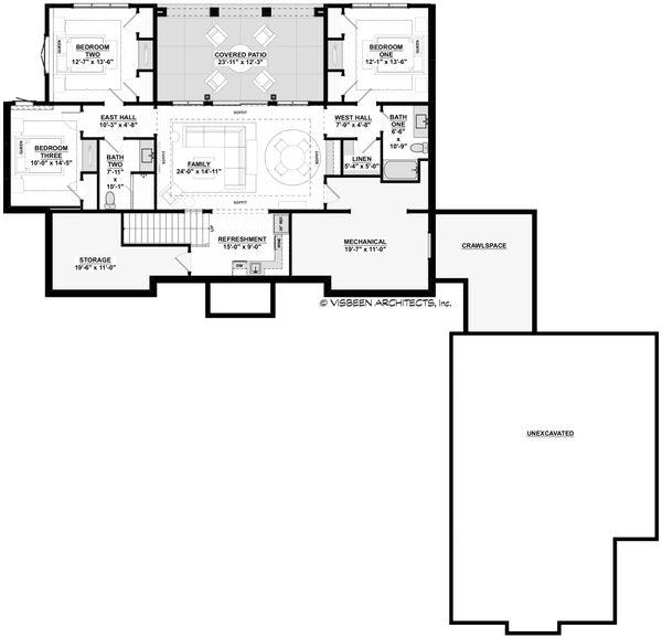 Home Plan - Farmhouse Floor Plan - Lower Floor Plan #928-357