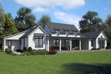 House Plan Design - Contemporary Exterior - Rear Elevation Plan #48-971