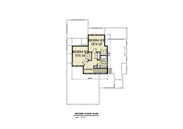 Contemporary Floor Plan - Upper Floor Plan Plan #1070-73