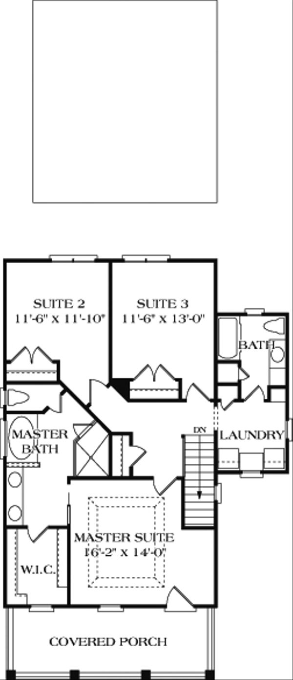 Colonial Floor Plan - Upper Floor Plan Plan #453-1