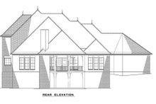House Plan Design - European Exterior - Rear Elevation Plan #17-2382
