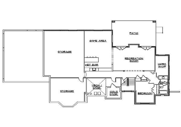 House Plan Design - Traditional Floor Plan - Lower Floor Plan #5-323