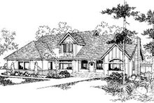 Traditional Exterior - Front Elevation Plan #60-155