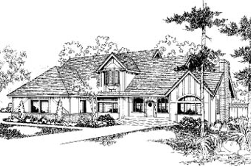 Architectural House Design - Traditional Exterior - Front Elevation Plan #60-155