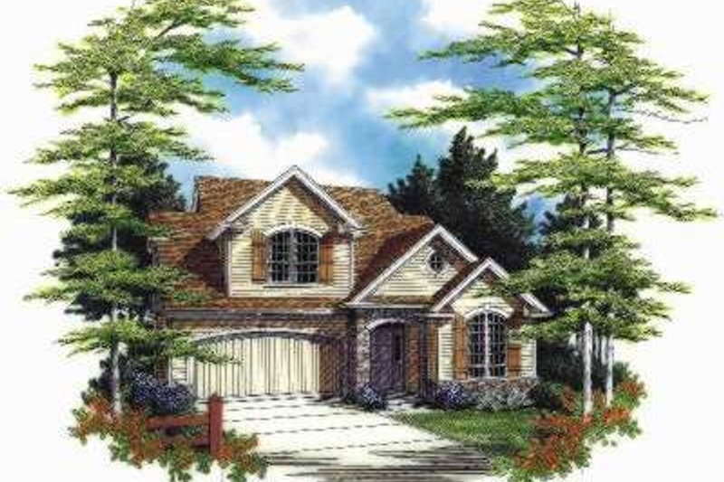 Architectural House Design - Traditional Exterior - Front Elevation Plan #48-175