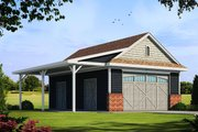 Traditional Style House Plan - 0 Beds 1 Baths 840 Sq/Ft Plan #20-2324 Exterior - Front Elevation