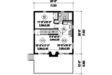 Cabin Floor Plan - Main Floor Plan Plan #25-4274