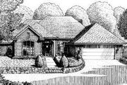 Traditional Style House Plan - 4 Beds 3 Baths 2626 Sq/Ft Plan #310-150 Exterior - Front Elevation