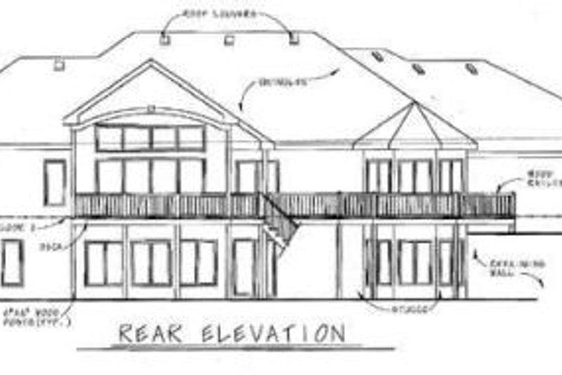 European Exterior - Rear Elevation Plan #20-1282 - Houseplans.com