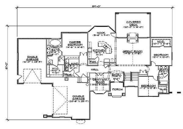 House Plan Design - European Floor Plan - Main Floor Plan #5-291