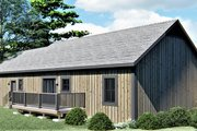Ranch Style House Plan - 3 Beds 2 Baths 1311 Sq/Ft Plan #44-239 Exterior - Rear Elevation