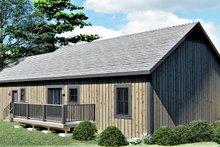 Ranch Exterior - Rear Elevation Plan #44-239