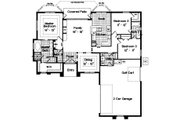 Mediterranean Style House Plan - 3 Beds 2.5 Baths 1834 Sq/Ft Plan #417-158 Floor Plan - Main Floor Plan