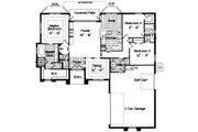 Mediterranean Style House Plan - 3 Beds 2.5 Baths 1834 Sq/Ft Plan #417-158 Floor Plan - Main Floor