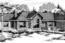 Home Plan - European Exterior - Front Elevation Plan #124-133