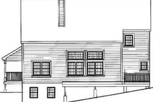 Home Plan - Traditional Exterior - Rear Elevation Plan #3-222
