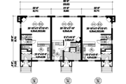 Traditional Style House Plan - 14 Beds 6 Baths 6338 Sq/Ft Plan #25-4613 Floor Plan - Main Floor Plan
