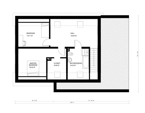 Modern Floor Plan - Upper Floor Plan Plan #906-29