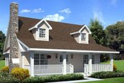Country Style House Plan - 3 Beds 2 Baths 1415 Sq/Ft Plan #312-363 Exterior - Front Elevation