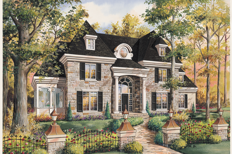 European Style House Plan - 3 Beds 2 Baths 2961 Sq/Ft Plan #25-4774 Exterior - Front Elevation