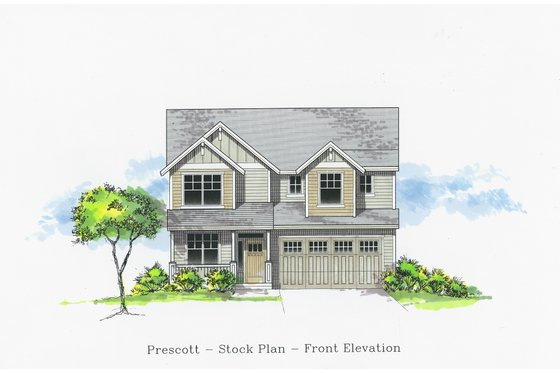 Craftsman Exterior - Front Elevation Plan #53-505