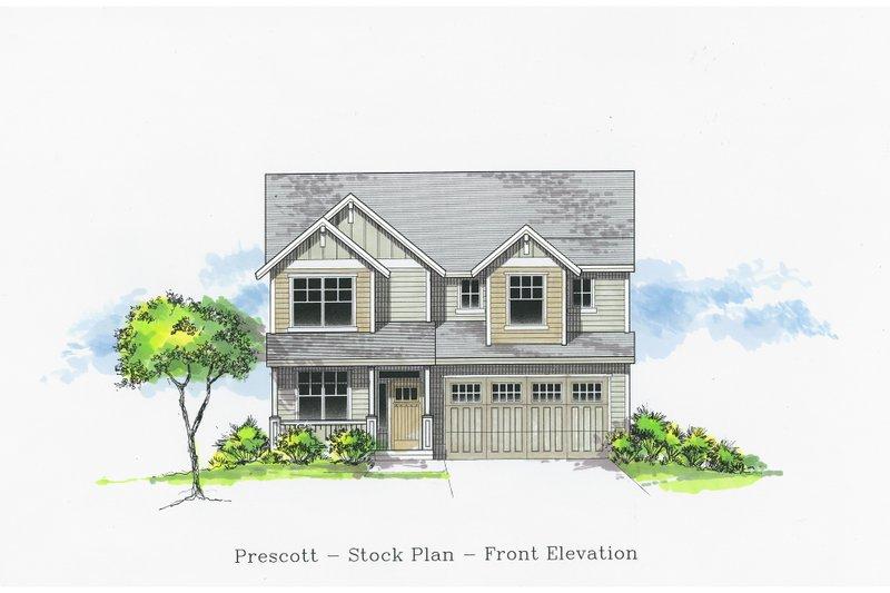 Craftsman Style House Plan - 4 Beds 2.5 Baths 2564 Sq/Ft Plan #53-505